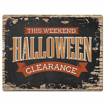PP1901 HALLOWEEN CLEARANCE Plate Chic Sign Home Store Halloween Decor Gift - Pp Halloween