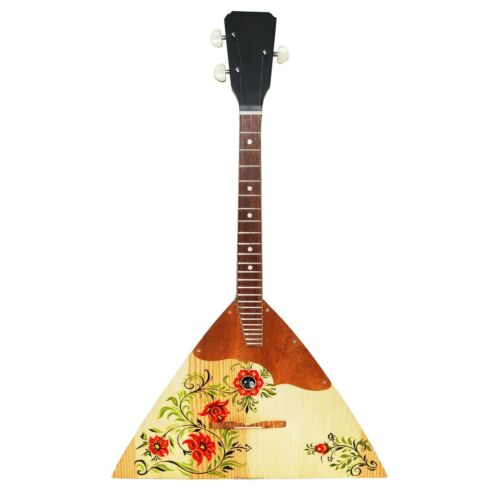 New Original Russian Ukrainian Balalaika Trembita Hand Painted Folk Art Ornament