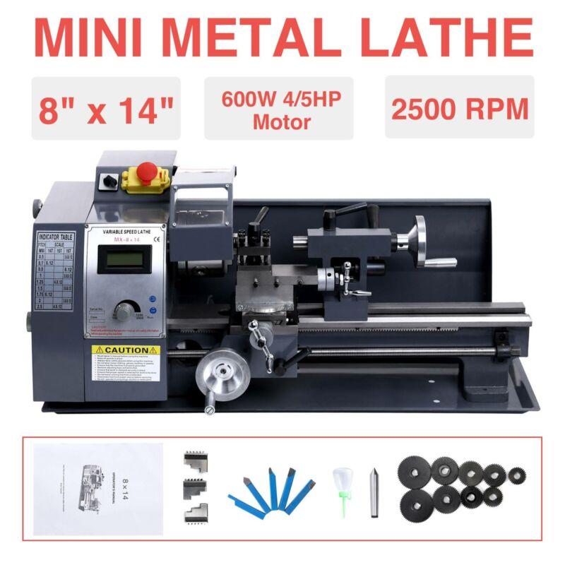 """8""""x14"""" Mini Metal Lathe Metalworking Woodworking Metal G"""