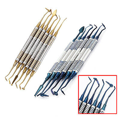 Dental Composite Filling Spatula Toolsresin Filling Repair 18.5cm Blue Gold