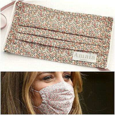 AUTHENTIC Amaia Pink Pepper Duchess of Cambridge Face Mask Pepper Liberty Kate M