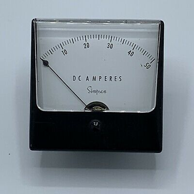 Vintage Simpson Dc Amperes Panel Meter