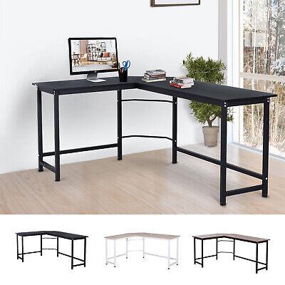 L-shaped Gaming Computer Desk Wood Corner Pc Workstation