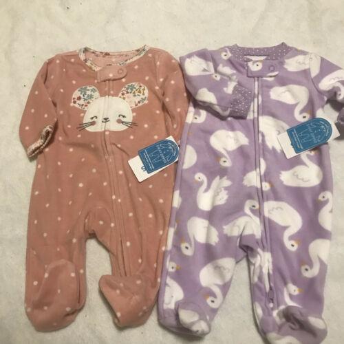 NWt carters swans mice mouse 2 sleepers NB newborn 2 sets pajamas 0 mos ducks