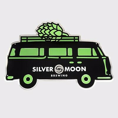 Silver Moon Brewing Company Sticker decal craft Brewery Micro Bend Oregon VW Bus