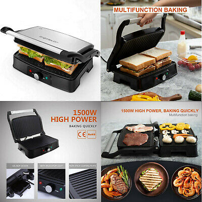 Grill de contacto parrilla eléctrica,sandwichera,plancha,1500W,2 placas cocinado