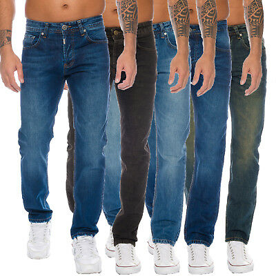 Lorenzo Loren Designer Herren Jeans Hose Regular Fit Stonewashed Jeans W29-W44 ()