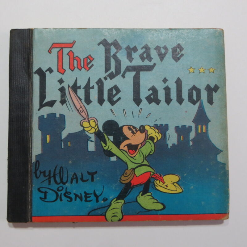 Vtg Disney Book Mickey Mouse The Brave Little Tailor 1939