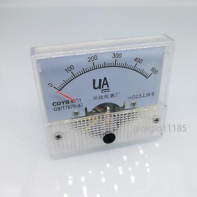 Us Stock Dc 0500ua Class 2.5 Accuracy Analog Amperemeter Panel Meter Gauge 85c1