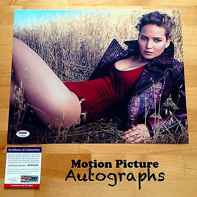 Jennifer Lawrence Signed 11X14 Photo Psa Dna Coa Autograph Ac95239
