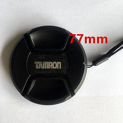 Bouchon cache de remplacement + Dragonne lens cap 77mm pour Objectif Tamron