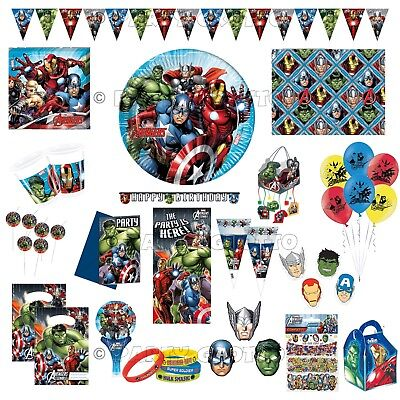 AVENGERS Superheroes Ironman Hulk Birthday Party Supplies Tableware Decorations (Hulk Party Supplies)