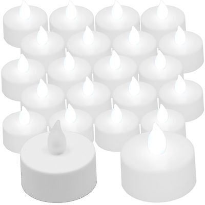 20 pcs COOL White LED Tea Light Flameless Battery Candles Wedding Party - Cool Centerpieces