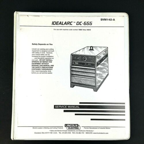 Lincoln Electric IDEALARC DC-655 Service Manual SVM142-A