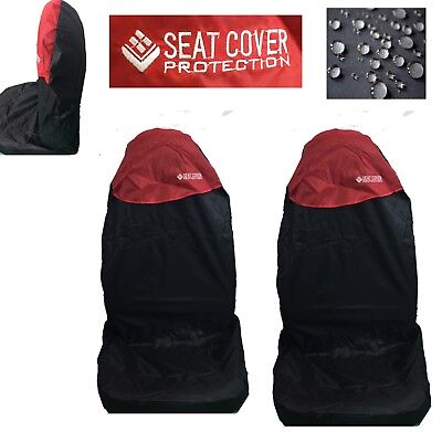 Universal Car Seat Covers Full Set Red Black Washable Fits Audi A1 A2 A3 A4 90
