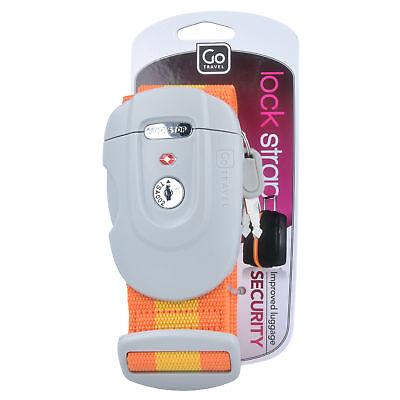 GoTravel Lock Strap Gepäckgurt TSA Koffergurt 5 cm (orange) (Tsa Gepäckgurt)