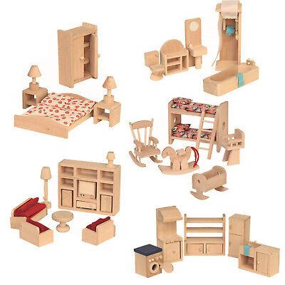 Puppenhaus Zubehör Holz Einrichtung Puppenstube Puppenküche Puppenmöbel Möbel ()