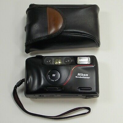 Nikon SmileTaker Film Point and Shoot Camera With Case Working