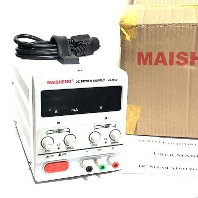 New Maisheng Ms-305d Variable Linear Adjustable Lab Dc Bench Power Supply