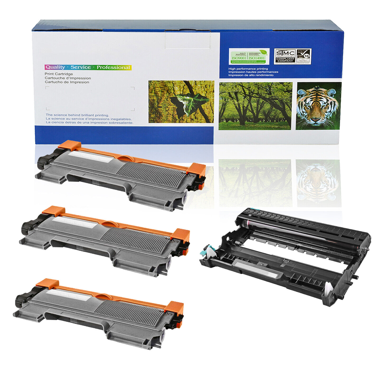 3x TN450+2x DR420 Toner Drum For Brother DCP-7060DR 7065DR 7070DWR HL-2270 2280