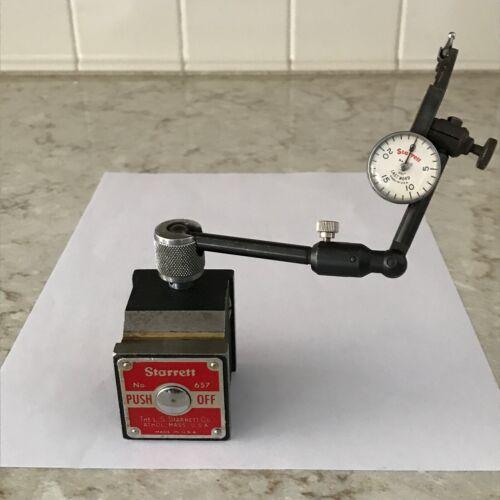 Starrett Magnetic Base Model 657 & Last Word #711-C Dial Indicator