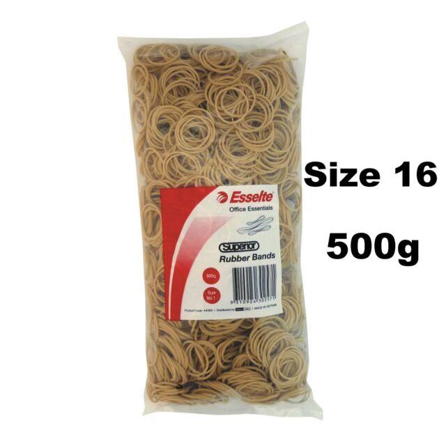 ESSELTE Rubber Bands 500g Size 16 No16 BULK Large Pack 44057 | eBay