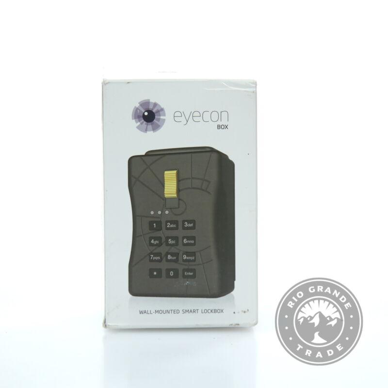 OPEN BOX NUSET 7080-3 Eyecon WiFi-Enabled Wall Mount Smart Lock Box in Black