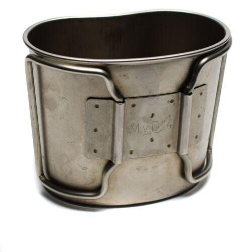 Original Dutch army canteen cup mug mess stainless steel pot bushcraft