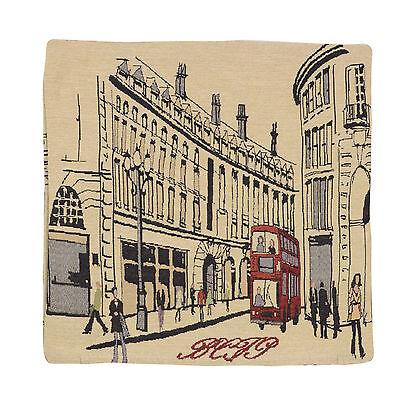"Wholesale Job Lot 10x Cushion Covers Designer ""London Bus"" Tapestry 18"" (45cm)"