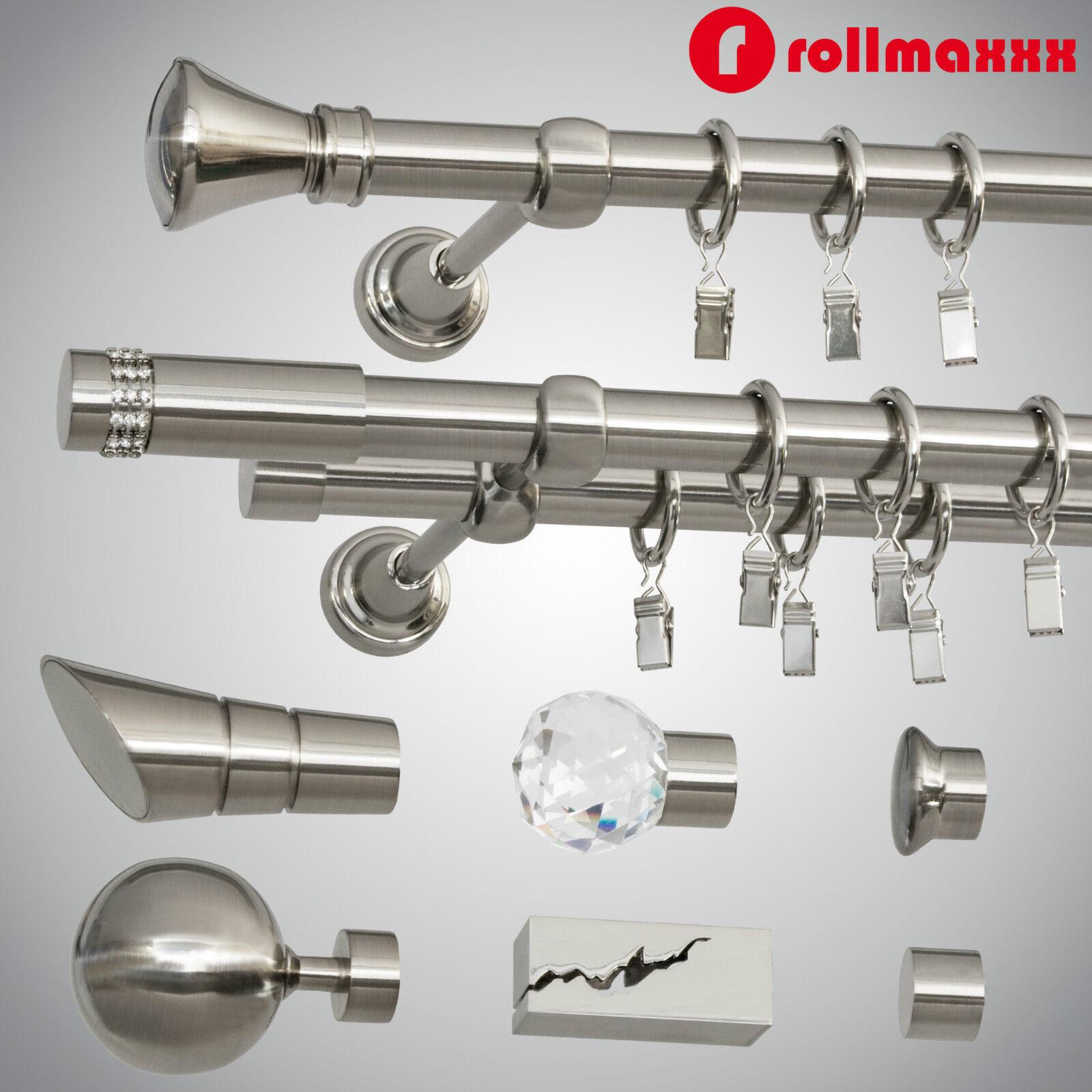 Gardinenstangenhalter Edelstahl gardinenstange vorhangstange 19mm 1 läufig 2 läufig edelstahl design