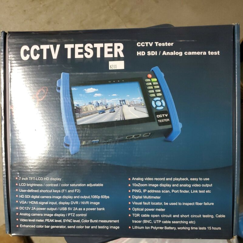 """7"""" TFT LCD HD Security Tester Camera Monitor Tester"""