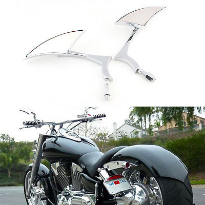 Chrome Motorcycle Mirrors For Harley-Davidson Sportster 1200 Super Low XL1200T