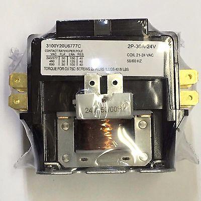 Contactor 30a 30 Amp 2 Pole 24v Coil 21-24 Vac Fl 40 Res