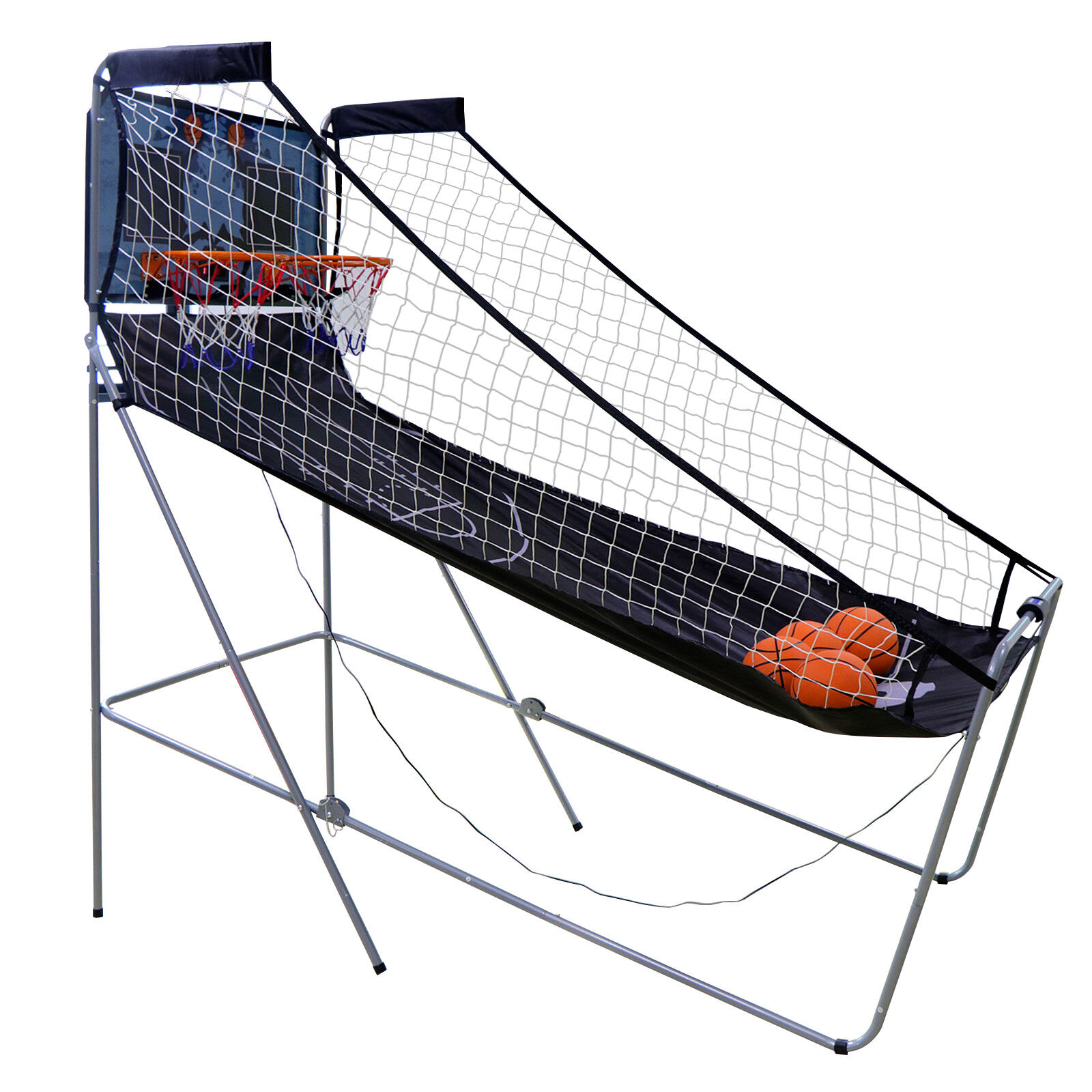 Foldable Indoor Basketball Arcade Game Double Electronic Hoops shot 2 Player Indoor Games