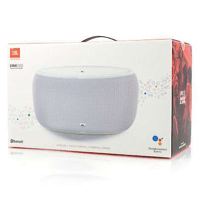 JBL Link 500 Wireless Voice-Activated Speaker with Google Assistant  - White for sale  Shipping to India