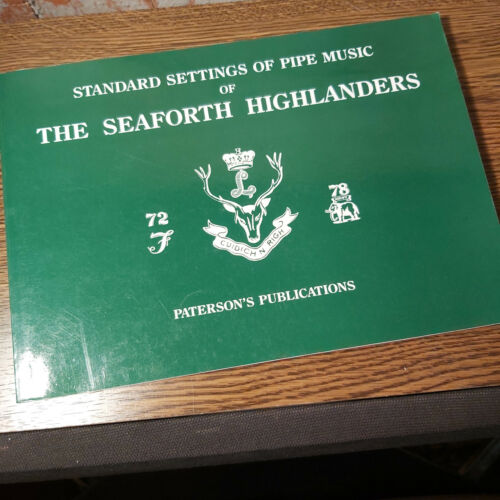 1978 Standard Settings of Pipe Music of The Seaforth Highlanders Book Softcover
