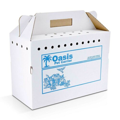 Disposable Cardboard Pet Carrier, 12/Case