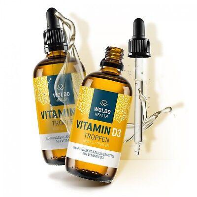 Vitamin D3-Tropfen 2x 50 ml 1.000 I.E. 50µg hochdosiert MCT Öl aus Kokosöl