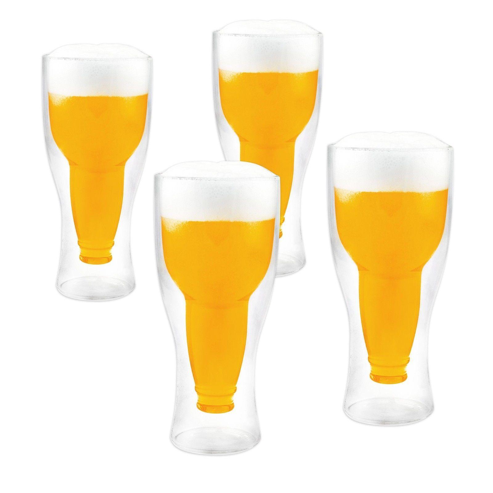 Thermo Biergläser Set 2 - 12-tlg Gläser doppelwandig Bierglas Kühles Bier