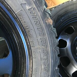 Snow Tires 225/55 R-17, Brand New, set of 4, with Rims, $600.00