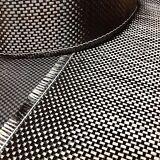 "Carbon Fiber Cloth Fabric Plain Weave 3k 5.6oz/160gsm TAPE 4"""