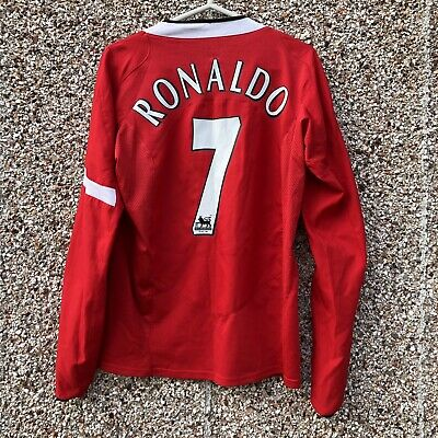 95119f9dae1 2004 2006 Manchester United home L S football shirt RONALDO  7 Long Sleeved  - S