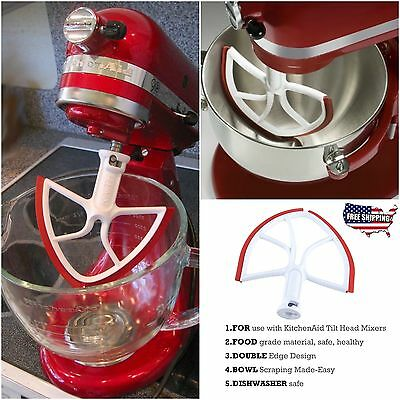 مضرب كهربائي جديد Beater Blade Tilt-Head Model Attachment Red KitchenAid Stand Lift Mixer Bowl NEW