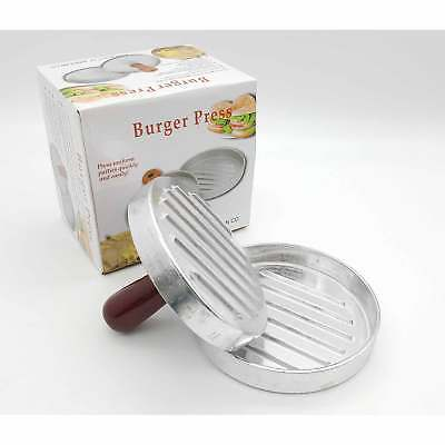 Non-stick-burger (Non-Stick Burger Press Mould Maker Silver Hamburger Quarter Pounder Biftek Grill)