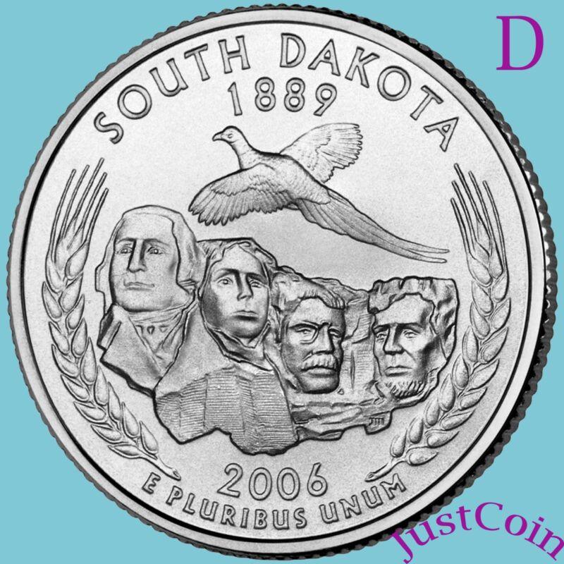2006-D SOUTH DAKOTA STATE (SD) QUARTER UNCIRCULATED U.S. MINT * STATE QUARTERS