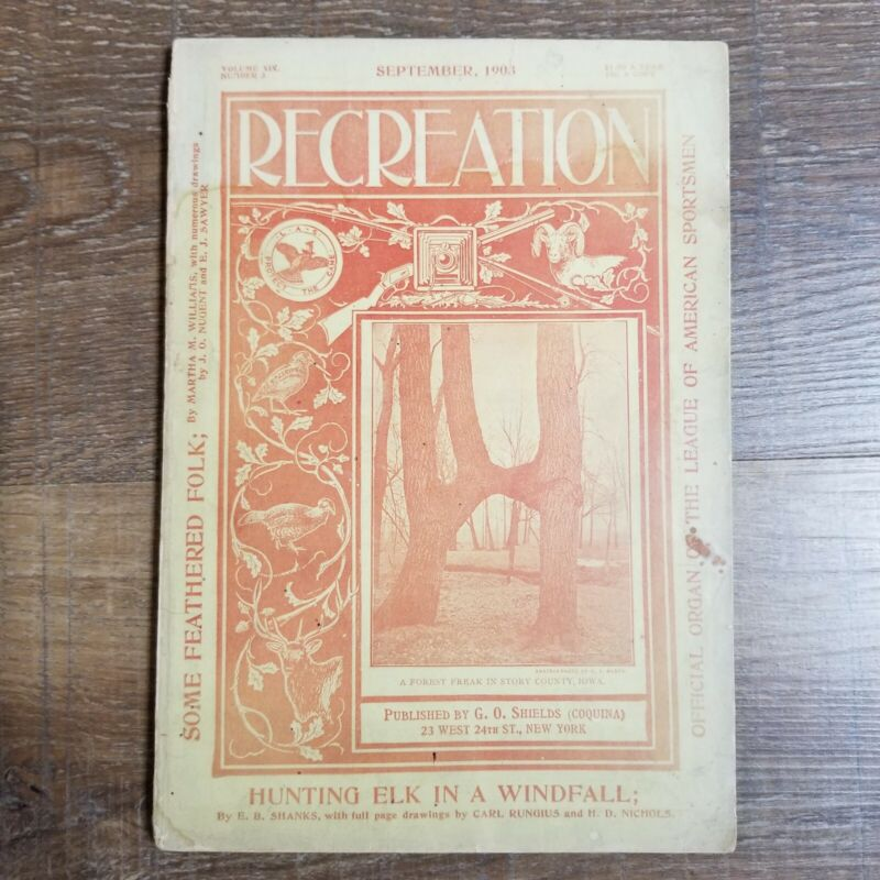 Antique Hunting Fishing Outdoor RECREATION Magazine SEPTEMBER 1903
