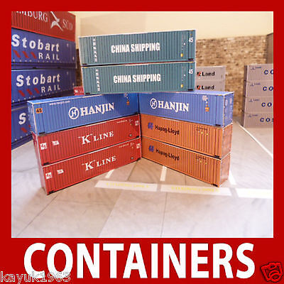 Z Gauge/Scale Shipping Containers Model Card Kits Best Buy Mixed Set x 12
