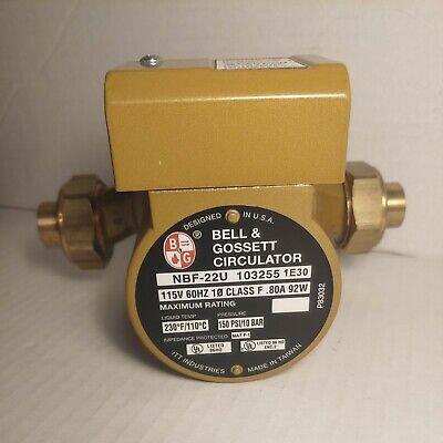 Bell And Gossett Circulator Nbf-22u 103255 1f30 80a 92w 150 Psi10 Bar
