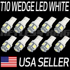 10pcs LED For T10 White Xenon Light Bulbs 5smd 5050 - 192 168 194 W5W 2825 158