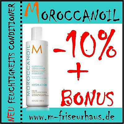 (€9,72/100ml) MOROCCANOIL Hydrating Feuchtigkeits Conditioner 250ml + BONUS - Feuchtigkeit Hydrating Conditioner